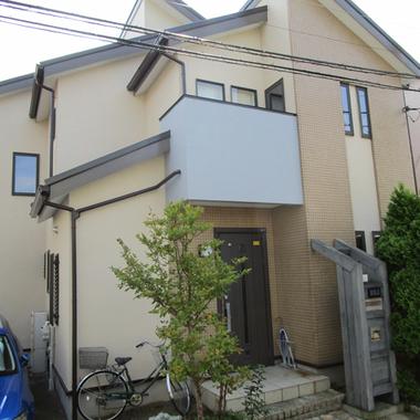 | 外壁塗装後 住宅外観 玄関