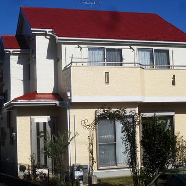 | 外壁屋根塗装後 住宅外観