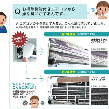 | エアコン お掃除機能付きエアコン クリ-ニング 説明文1