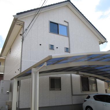 | 外壁塗装工事 床下白蟻防除工事後 住宅外観 斜め