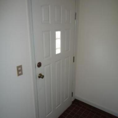 内装塗装完了 玄関