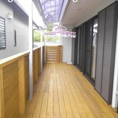 飯塚市✕ウッドデッキ設置✕安心、安全なプロの工事の施工後写真(0枚目)