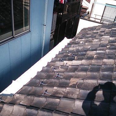 屋根工事 雪止め後