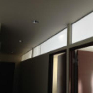 店舗の内装工事後 アクリル板