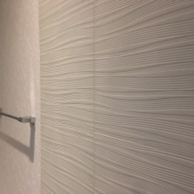 洗面所リフォーム後 壁アップ画像