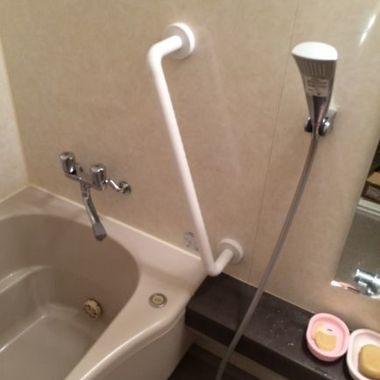 浴室手摺り取付け完了