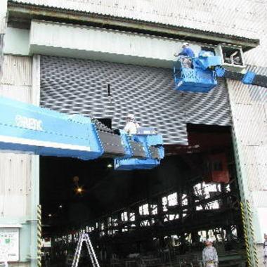| 工場・倉庫用 重量電動シャッター取付工事