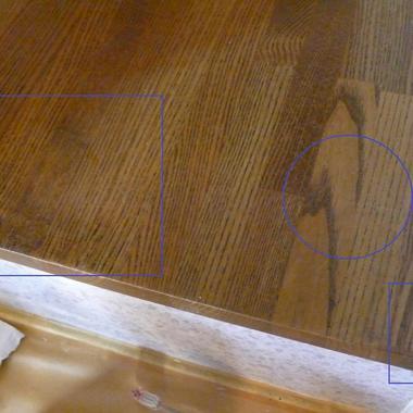 | 木製の棚キズ補修完了