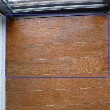 床の日焼け補修完了