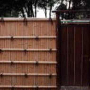 天然竹垣設置工事