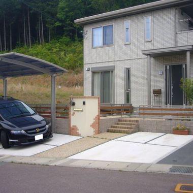 駐車場とアプローチのリフォーム