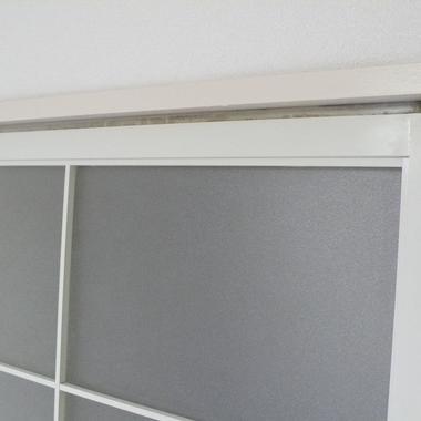 | アルミサッシ扉の擦過傷 黄ばみ補修完了