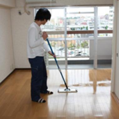 空室クリーニング フローリング掃除