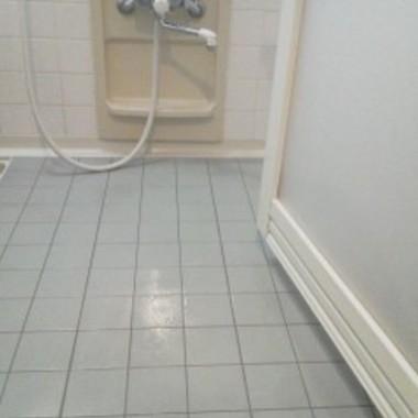 クリーニング後 浴室タイル