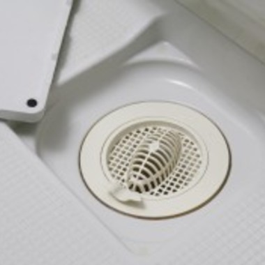 浴室クリーニング後 排水口