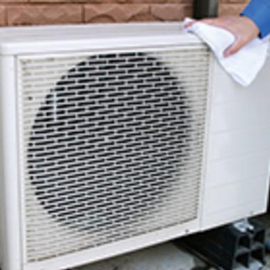 エアコン室外機クリーニング後 エコ洗浄