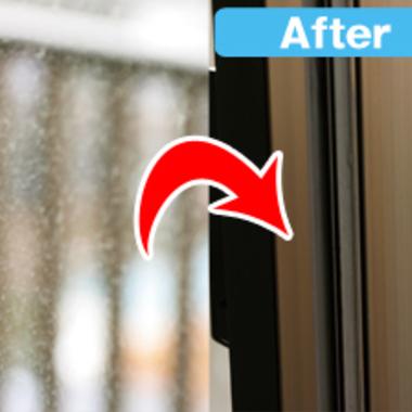 ガラス・サッシのクリーニング前後の比較