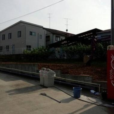 | フェンス撤去後の敷地
