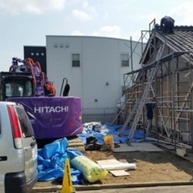 | 住宅切離し箇所の外壁補修工事
