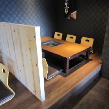 改装後の半個室掘りごたつ席