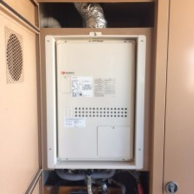 交換後のガス温水暖房付ふろ給湯器