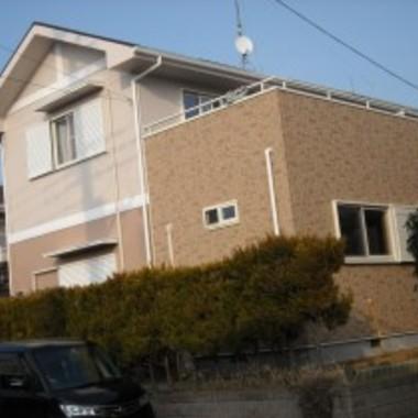 塗装後の住宅外観 ベランダ側