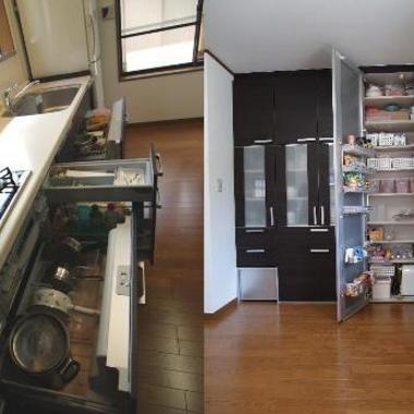 リノベーション後のキッチン収納