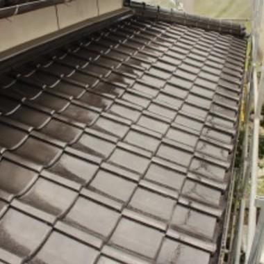 塗装後の屋根瓦