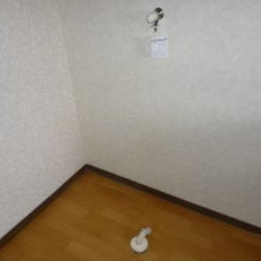 | 設置工事後の室内洗濯機置き場