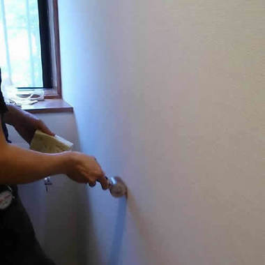 トイレの壁紙張替え 仕上げ
