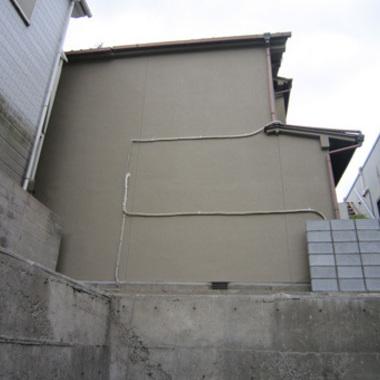 外壁塗装後の住宅側面