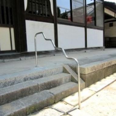 西尾市 お寺 参道手摺取り付け工事の施工後写真(0枚目)