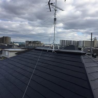 アンテナ工事後 屋根