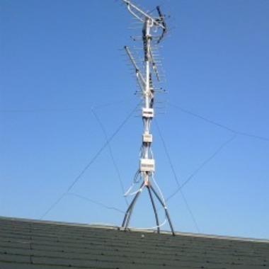 地デジアンテナ工事後 屋根
