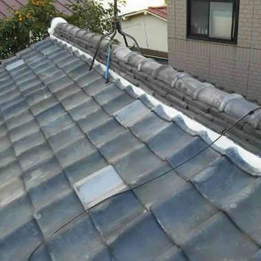 雨漏り修理後の瓦屋根