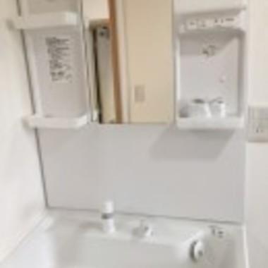 リフォーム後 洗面台・棚