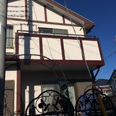 | 幕板塗装工事 住宅外観