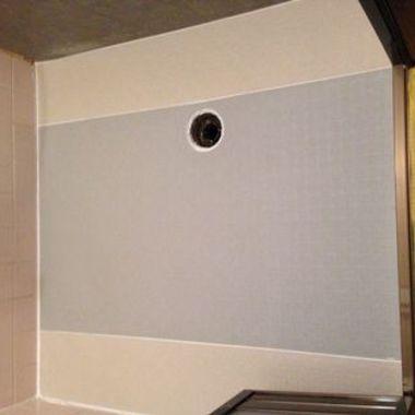   浴室床シ-ト施工後 浴室床