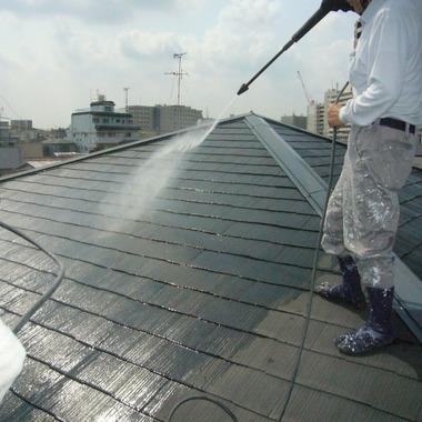 | 高圧洗浄 屋根