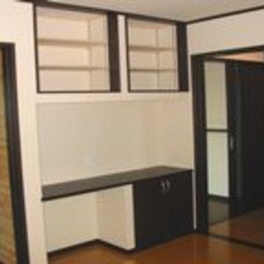 新築工事 部屋の棚