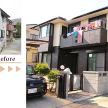 屋根・外壁塗装 無機質塗料仕上げ 前と後