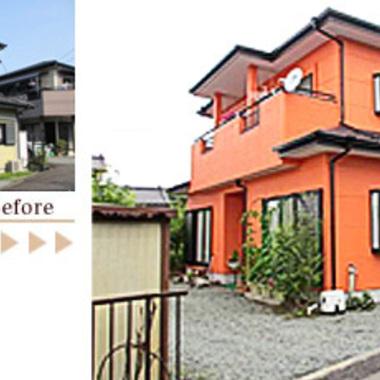 屋根・外壁塗装 無機質塗料 前と後