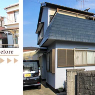 外壁塗装 トタン・サイディング・モルタル 前と後