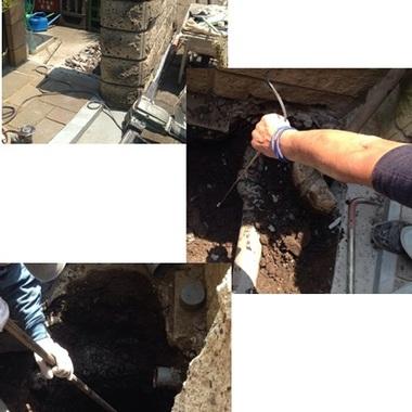 下水道切替工事 作業中