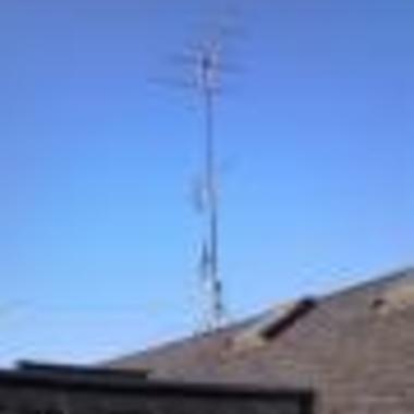 アンテナ取付工事 ズーム写真