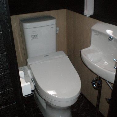 和式トイレから洋式トイレに変更工事 後