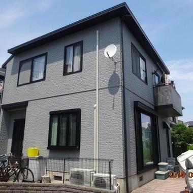 外壁塗装 屋根塗料 日本ペイント:ファインシリコンベスト 施工後