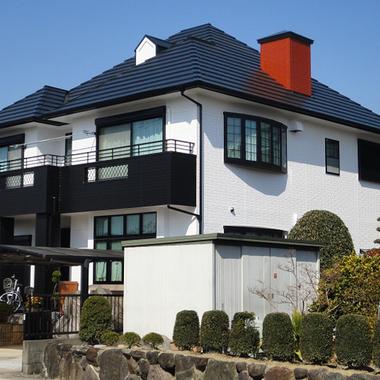 個人宅屋根外壁塗装 後
