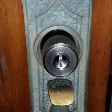 錠前の鍵交換後 ズーム写真