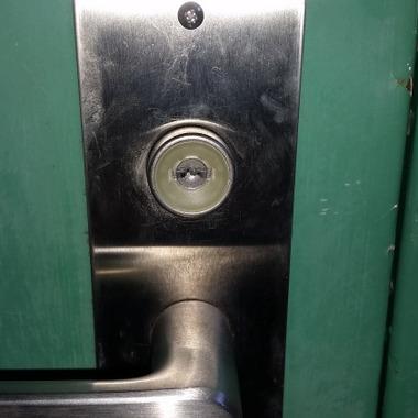 錠前の鍵交換後・美和ロックディンプルキーPRに交換
